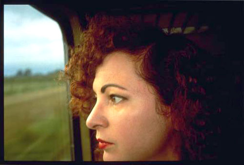 Nan Goldin, Self-Portrait on the train, Germany  1992